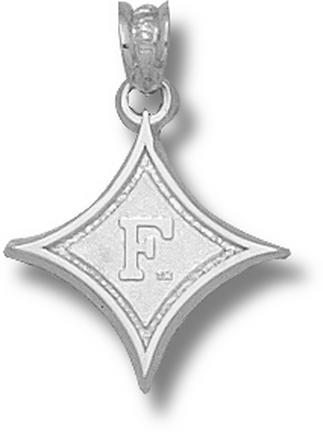 Furman Paladins Diamond With F 5/8 Pendant Sterling Silver Jewelry