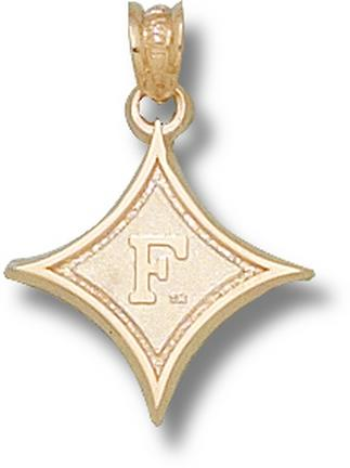 """Furman Paladins Diamond with """"F"""" Lapel Pin - Sterling Silver Jewelry"""