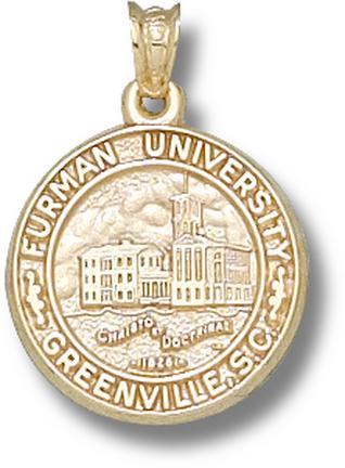 """Furman Paladins """"Seal"""" Lapel Pin - 10KT Gold Jewelry"""