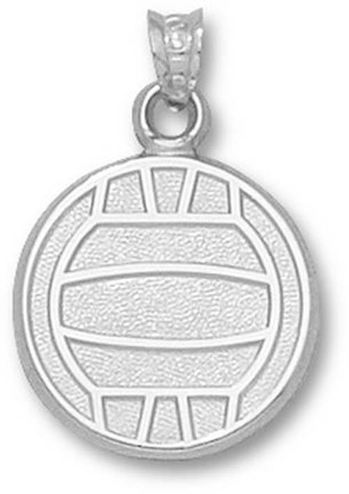 """Large Flat """"Volleyball"""" Pendant - Sterling Silver Jewelry"""