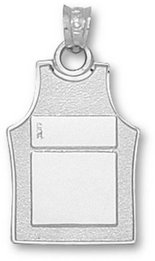 """2 Sided """"Basketball Jersey"""" 3/4"""" Pendant - Sterling Silver Jewelry"""