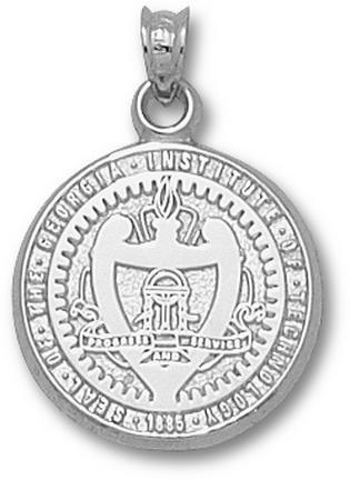 Georgia Tech Yellow Jackets Seal Pendant Sterling Silver Jewelry