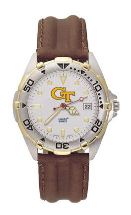 Georgia Tech Yellow Jackets GT All Star Watch with Leather Band - Men's