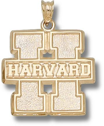 """Harvard Crimson Block """"H"""" Harvard Lapel Pin - Sterling Silver Jewelry"""