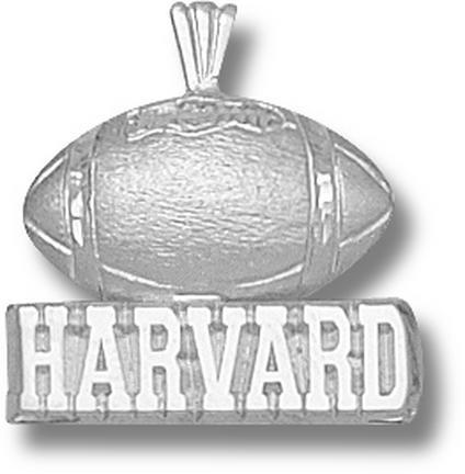 Harvard Crimson Harvard Football Pendant Sterling Silver Jewelry