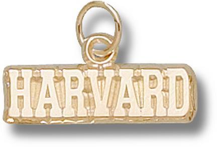 Harvard Crimson Harvard 3/16 Charm - 14KT Gold Jewelry