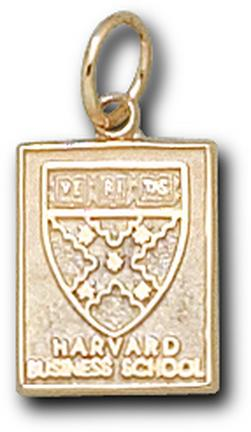 """Harvard Crimson """"Business Shield"""" 1/2"""" Square Lapel Pin - 14KT Gold Jewelry"""