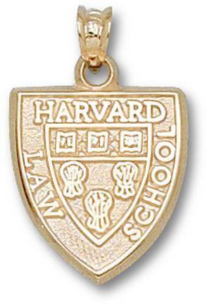 """Harvard Crimson """"Law School Shield"""" Lapel Pin - 14KT Gold Jewelry"""