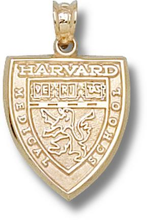"""Harvard Crimson """"Medical School Shield"""" Lapel Pin - 14KT Gold Jewelry"""