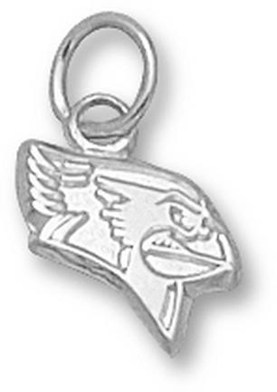 Illinois State Redbirds Redbird Head 3/8 Charm - Sterling Silver Jewelry