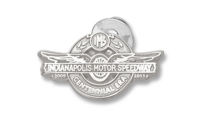 """""""Indianapolis Motor Speedway 5/8"""""""" Centennial Logo Lapel Pin - Sterling Silver Jewelry"""""""