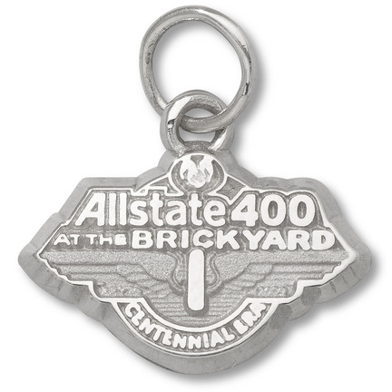Allstate 400 At The Brickyard 3/8 2009 Logo Charm Sterling Silver Jewelry