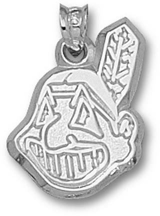 Cleveland Indians 'Chief Wahoo' 3/4in Pendant - Sterling Silver Jewelry