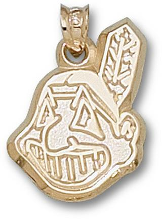 Cleveland Indians 'Chief Wahoo' 3/4in Pendant - 14KT Gold Jewelry