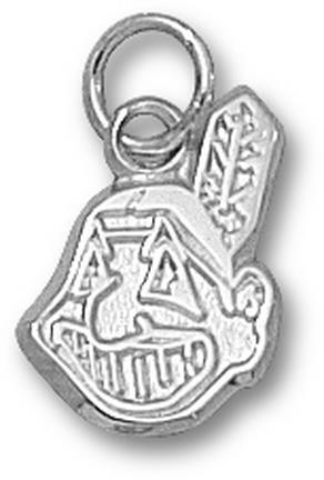 Cleveland Indians 'Chief Wahoo' 9/16in Charm - Sterling Silver Jewelry