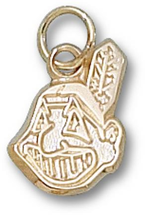 Cleveland Indians 'Chief Wahoo' 9/16in Charm - 14KT Gold Jewelry