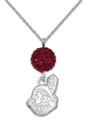 Cleveland Indians Ovation Crystal Necklace