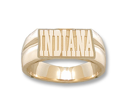 Indiana Hoosiers Indiana 38 Mens Ring Size 11  14KT Gold Jewelry