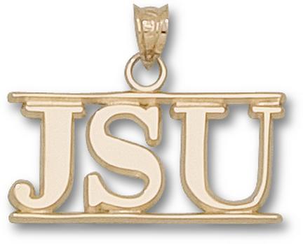 Jacksonville State Gamecocks JSU Pendant  14KT Gold Jewelry
