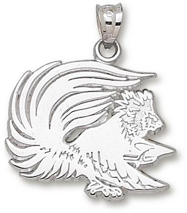 Jacksonville State Gamecocks Gamecock 34 Pendant  Sterling Silver Jewelry