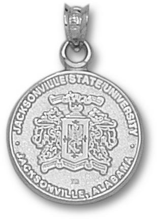Jacksonville State Gamecocks Crest Pendant  Sterling Silver Jewelry