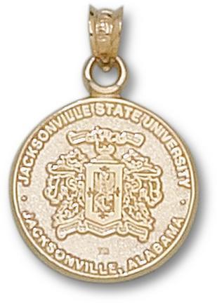 Jacksonville State Gamecocks Crest Pendant  14KT Gold Jewelry