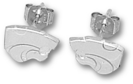 Kansas State Wildcats 1/4 Powercat Post Earrings Sterling Silver Jewelry