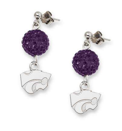 Kansas State Wildcats Ovation Crystal Earrings