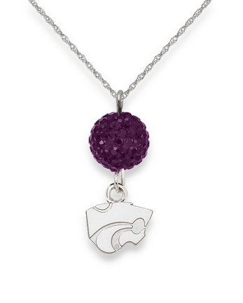 Kansas State Wildcats Ovation Crystal Necklace