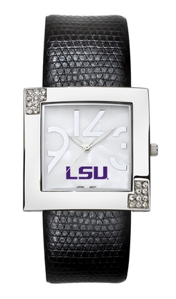 Louisiana State (LSU) Tigers Women's Glamour Watch with Leather Strap