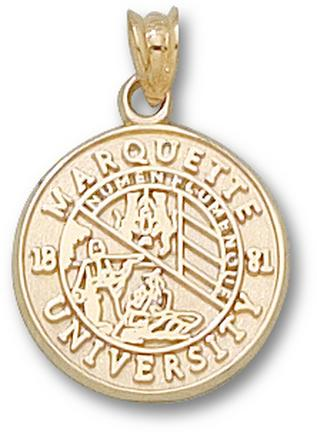 "Marquette Golden Eagles ""Seal"" Lapel Pin - 10KT Gold Jewelry"