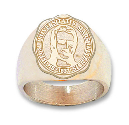 Marshall Thundering Herd Seal Mens Ring Size 11  14KT Gold Jewelry