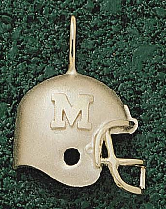 "Marshall Thundering Herd ""Helmet with M"" Lapel Pin - 10KT Gold Jewelry"