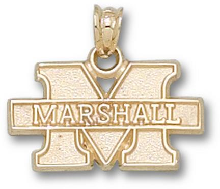 "Marshall Thundering Herd New ""M Marshall"" 7/16"" Lapel Pin - Sterling Silver Jewelry"