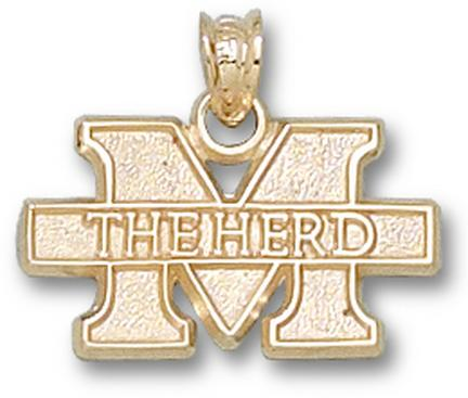 "Marshall Thundering Herd New ""M the Herd"" 7/16"" Lapel Pin - Sterling Silver Jewelry"