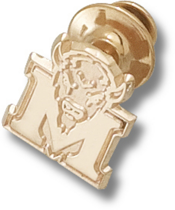 "Marshall Thundering Herd New ""M"" Marco 5/8"" Lapel Pin - 10KT Gold Jewelry"