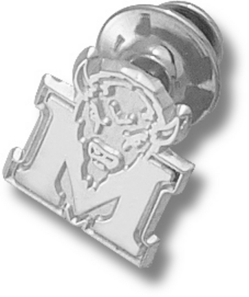 "Marshall Thundering Herd New ""M"" Marco 5/8"" Lapel Pin - Sterling Silver Jewelry"