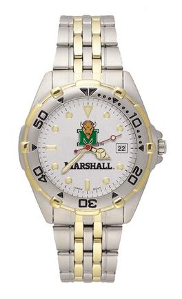"""Marshall Thundering Herd """"Marco"""" All Star Watch with Stainless Steel Band - Men's from Logo Art"""