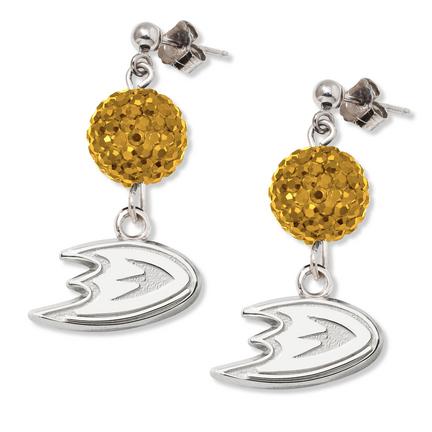Anaheim Ducks Ovation Crystal Earrings