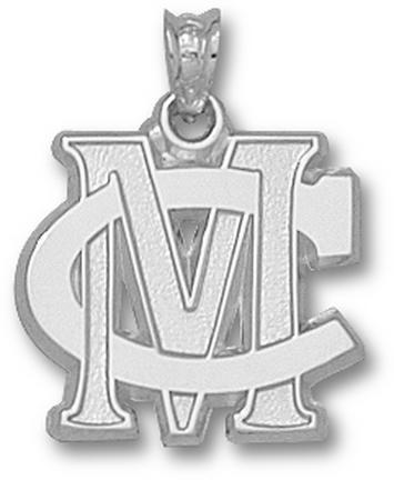 Methodist College Monarchs MC Pendant - Sterling Silver Jewelry