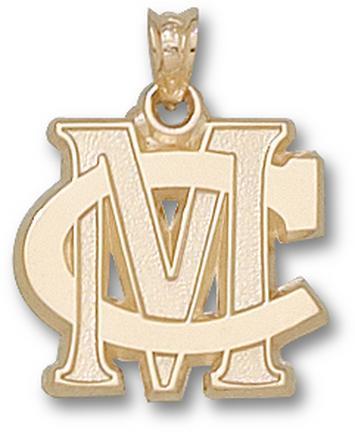 Methodist College Monarchs MC Pendant - 14KT Gold Jewelry