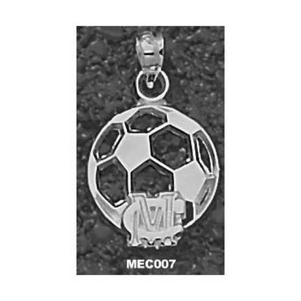 Methodist College Monarchs MC Soccerball Pendant - Sterling Silver Jewelry