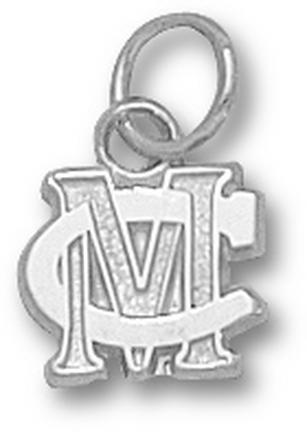 Methodist College Monarchs MC 5/16 Charm - Sterling Silver Jewelry