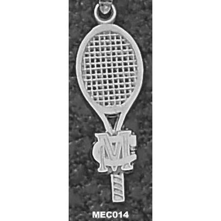 Methodist College Monarchs Small MC Racquet Pendant - Sterling Silver Jewelry