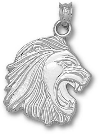 Methodist College Monarchs 3-D Lion Head 5/8 Pendant - Sterling Silver Jewelry