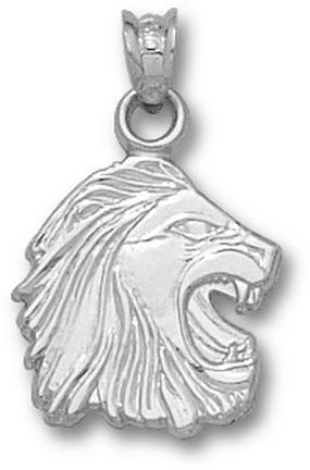 Methodist College Monarchs 3-D Lion Head 3/4 Pendant - Sterling Silver Jewelry
