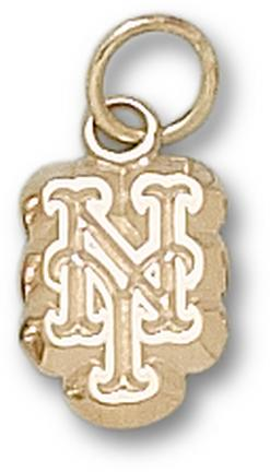 New York Mets NY 3/8 Charm - 14KT Gold Jewelry