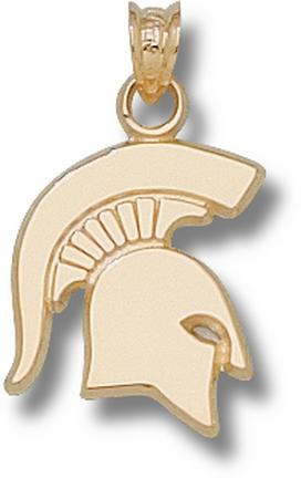 """Michigan State Spartans Solid """"Spartan"""" Lapel Pin - Sterling Silver Jewelry"""