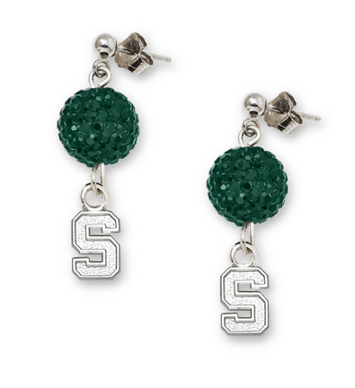 Michigan State Spartans Ovation Crystal Earrings