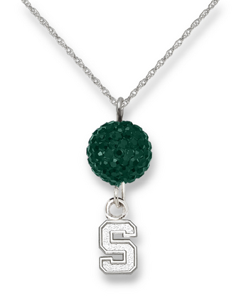 Michigan State Spartans Ovation Crystal Necklace